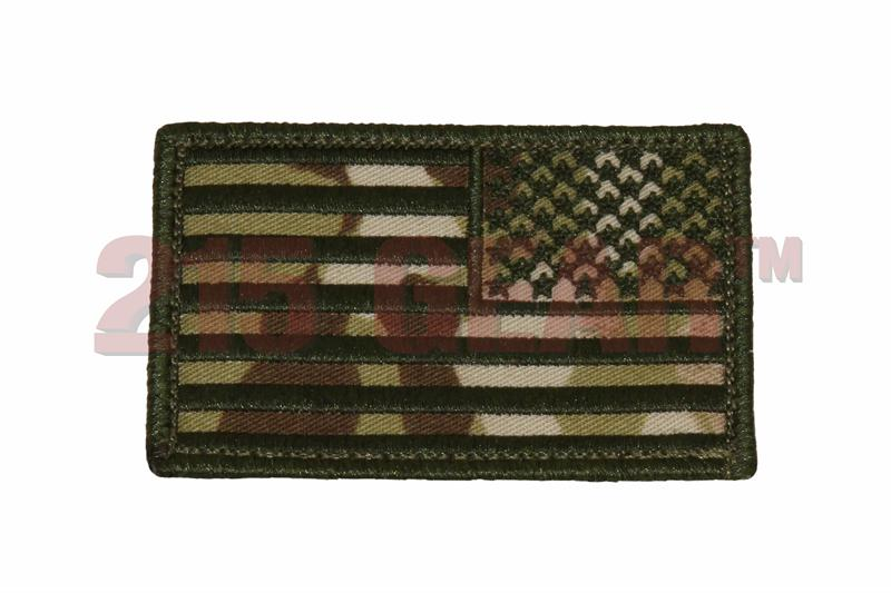 Reverse american flag patch